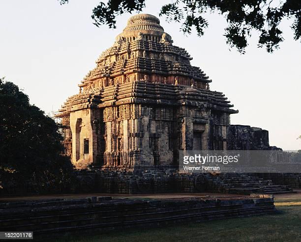 The Temple of the Sun complex at Konarak Dedicated to the sun god Surya India Hindu mid 13th century Orissa