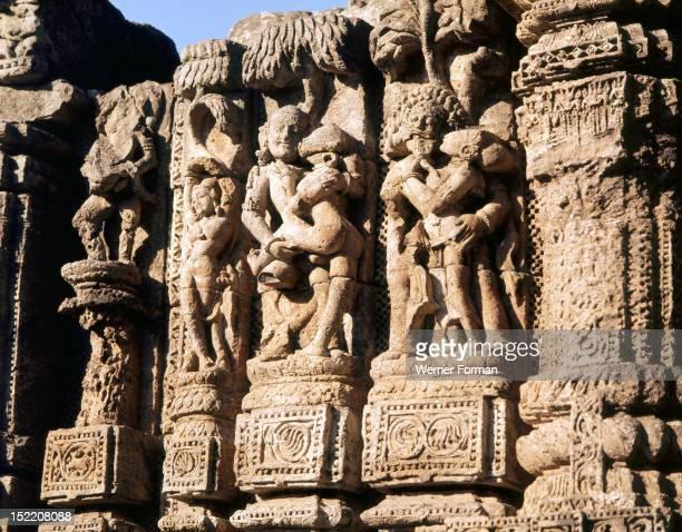 The Temple of the Sun complex at Konarak India Hindu 13th Century Orissa
