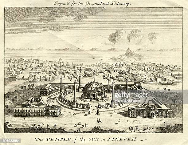 The Temple of the Sun in Nineveh Engraving
