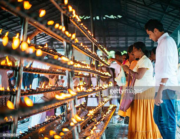 the temple of the tooth in sri lanka - dalada maligawa stock photos and pictures