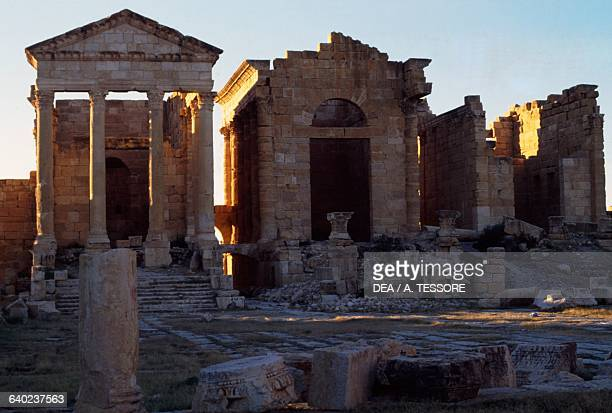 The temples dedicated to the Capitoline Triad Sufetula Sbeitla Kasserine Governorate Tunisia Roman civilisation 2nd century AD