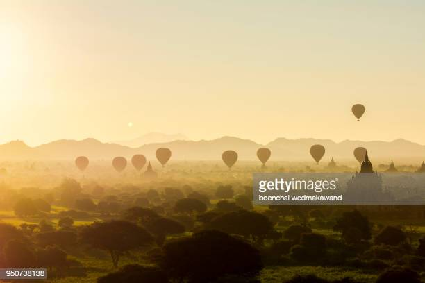 the temples of bagan(pagan), mandalay, myanmar - yangon stock pictures, royalty-free photos & images