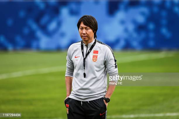The Temporary coach Li Tie of China National Team reacts prepare EAFF East Asian Cup at Wuhan on November 6th,2019 in Wuhan,China. China Football...