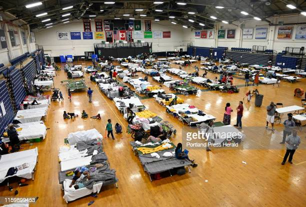 The temporary shelter at the Portland Expo housing asylum seekers Wednesday July 24 2019