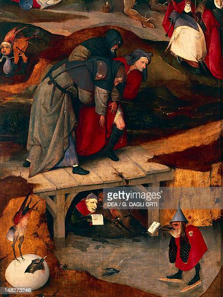 The Temptation of Saint Anthony, by Hieronymus Bosch . Detail. ; Lisbon, Museu Nacional De Arte Antiga .