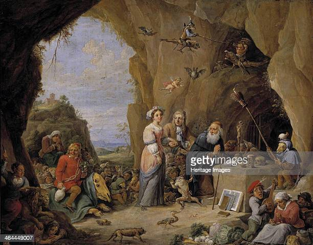 The Temptation of Saint Anthony, Mid of 17th cen.. Found in the collection of the Museo del Prado, Madrid.