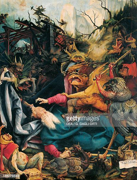 The Temptation of St Anthony 15101515 detail from a panel of the Isenheim altarpiece by Matthias Grunewald Colmar Musée D'Unterlinden