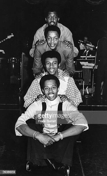 The Temptations America's successful rhythm and blues group at the Talk Of The Town London where they are making their British cabaret debut There...