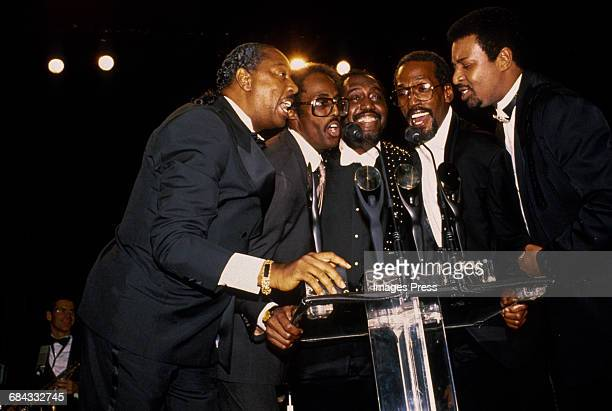 The Temptations attend the 1989 Rock N Roll Hall of Fame Induction Ceremony circa 1989 in New York City