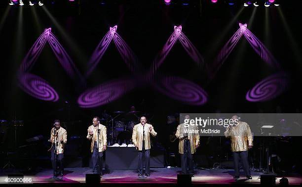 The Temptations featuring Joe Herndon Terry Weeks Otis Williams Bruce Williamson and Ronald Tyson perform during 'The Temptations And The Four Tops...