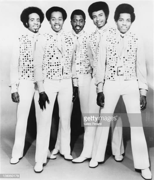 The Temptations, studio group portrait, USA L-R Richard Street, Melvin Franklin, Otis Williams, Dennis Edwards and Damon Harris.