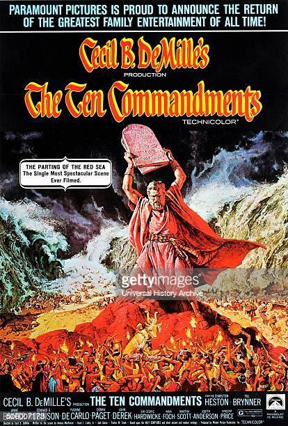 'The Ten Commandments' a 1956 American religious epic film starring Charlton Heston
