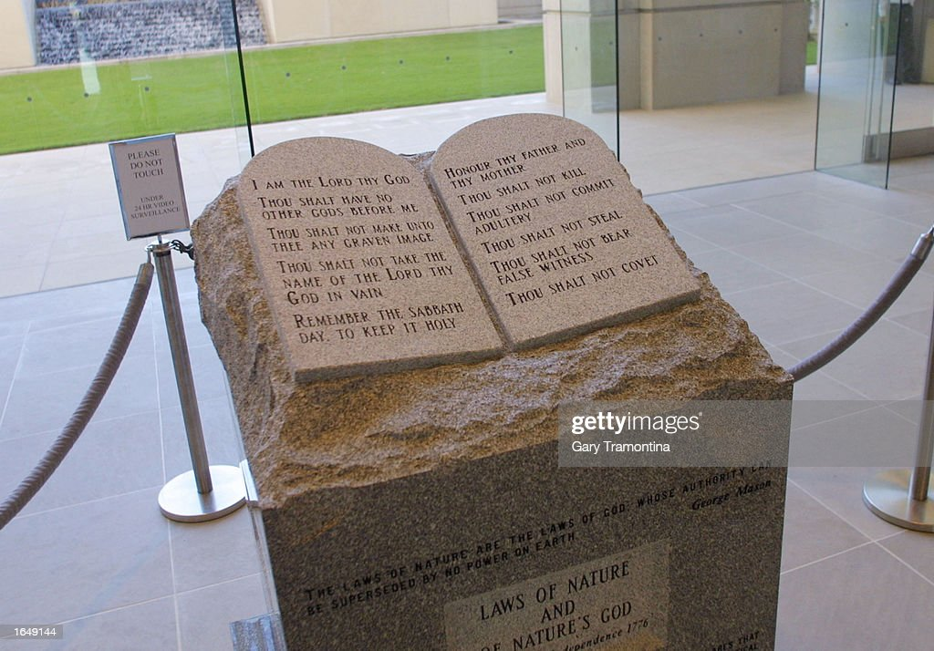 Ten Commandments Memorial Ordered Removed In Alabama : News Photo