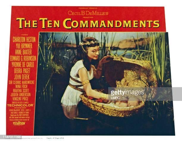 The Ten Commandments US lobbycard from left Nina Foch Fraser Heston 1956