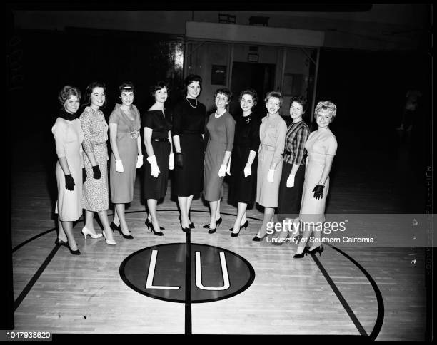 The ten finalists for Loyola Homecoming Queen contest 17 November 1959 Mary Ann KenneyJo Lynn SargentKathleen MeagherBetty SitterMary Ann FashingAnn...