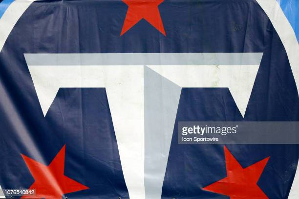 The Tennessee Titans Logo on display during the NFL game between the Tennessee Titans and Indianapolis Colts on December 30 at LP Field in Nashville...