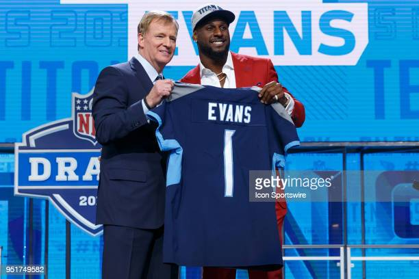 The Tennessee Titans select Alabama Linebacker Rashaan Evans 22nd overall during the first round of the NFL Draft on April 26, 2018 at AT&T Stadium...