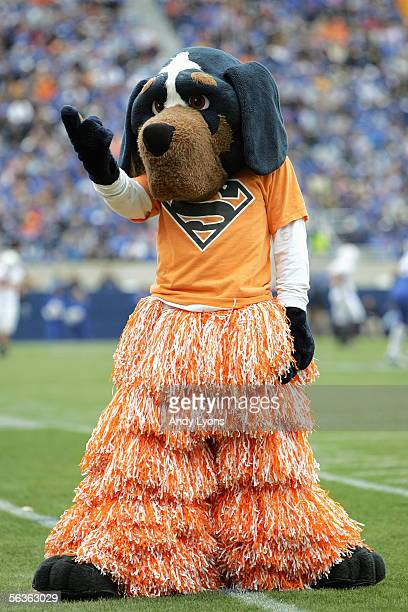 The Tennessee Volunteers mascot performs against the Kentucky Wildcats at Commonwealth Stadium on November 26 2005 in Lexington Kentucky The Vols...