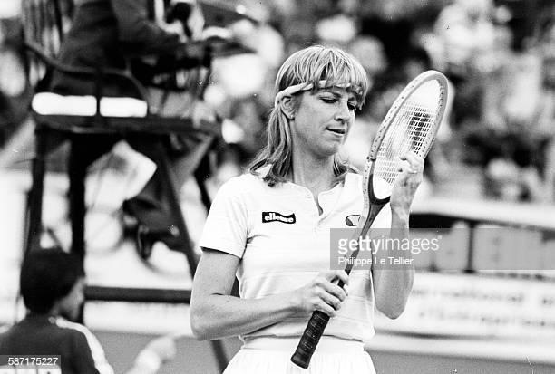 The tennis champion Chris Evert Lloyd tournament Roland Garros Paris France 1983
