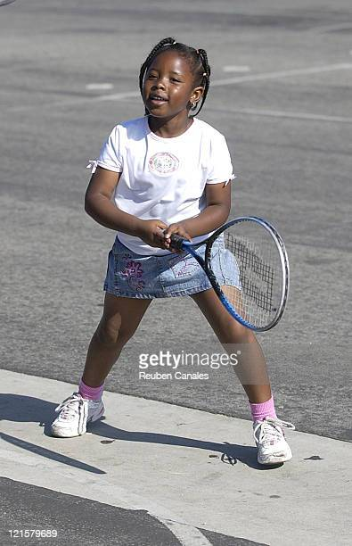 The Tennis Channel in Association with the American Heart Association host a tennis/health clinic at Prairie Vista Middle School in Hawthorne...