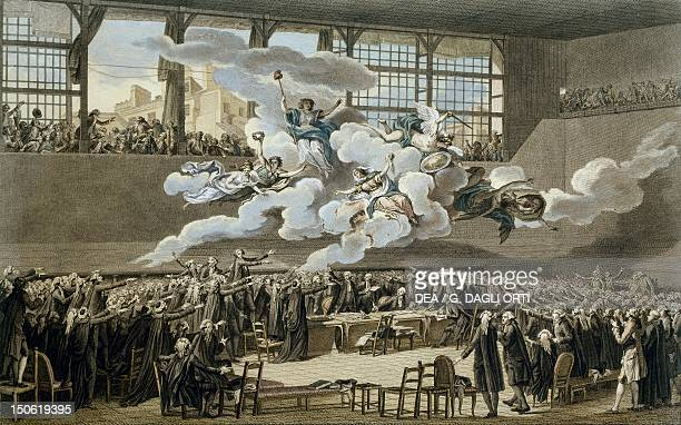 The tennis court oath June 20 1789 French Revolution France 18th century