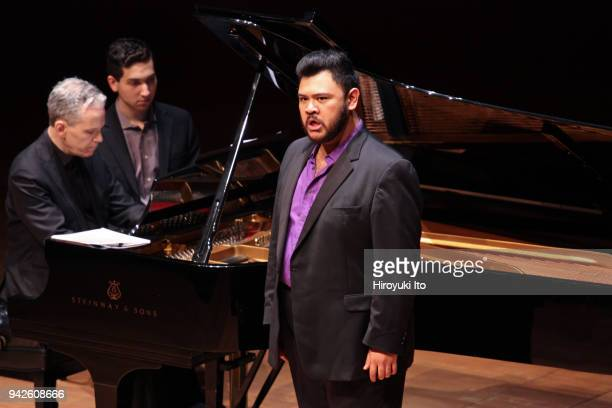 The tenor Charles Sy accompanied by the pianist Brian Zeger performing Paul Hindemith's La Belle Dame sans Merci and Benjamin Britten's Sonnet in...