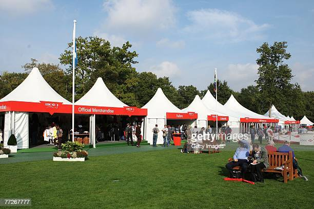 The Tented Village during the First Round of the HSBC World Matchplay Championship at The Wentworth Club on October 11, 2007 in Virginia Water,...
