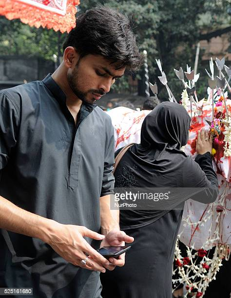 The tenth day of Muharram also referred as Day of Ashura. Shia muslims gathered together as part of the Mourning of Muhrram on 4 November, 2014 in...