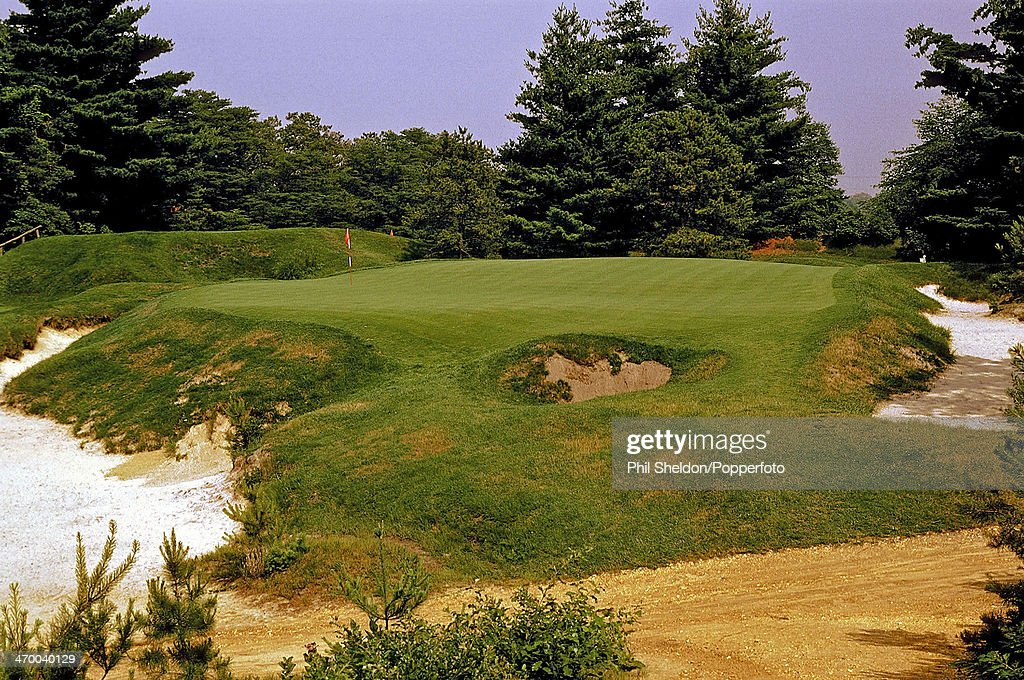 The tenth hole at the Pine Valley Golf Club, New Jersey ...