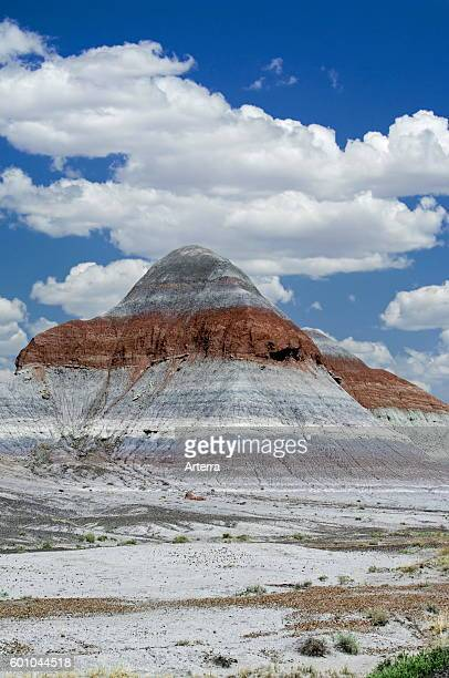 The Tepees or cones are structures with layers of blue purple and gray created by iron carbon manganese and other minerals in a cone shaped formation...