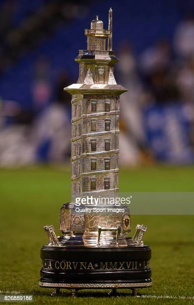 The Teresa Herrera trophy is displayed ahead of the Pre Season Friendly match between Deportivo de La Coruna and West Bromwich Albion at Riazor...
