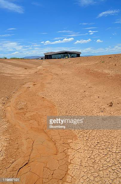The Terminal Hangar Facility at Spaceport America stands in Sierra County, New Mexico, U.S., on Thursday July 14, 2011. The future home of Virgin...