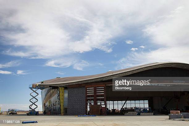 The Terminal Hangar Facility at Spaceport America stands in Sierra County, New Mexico, U.S., on Thursday, July 14, 2011. The future home of Virgin...