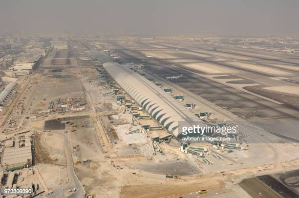 the Terminal3 terminal building at Dubai International airport underconstruction