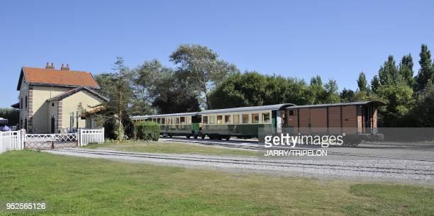 The terminus of the narrow gauge Somme Bay Railway or Chemin de Fer de la Baie de Somme town of Le Crotoy Baie de Somme and Cote d'Opale area Somme...