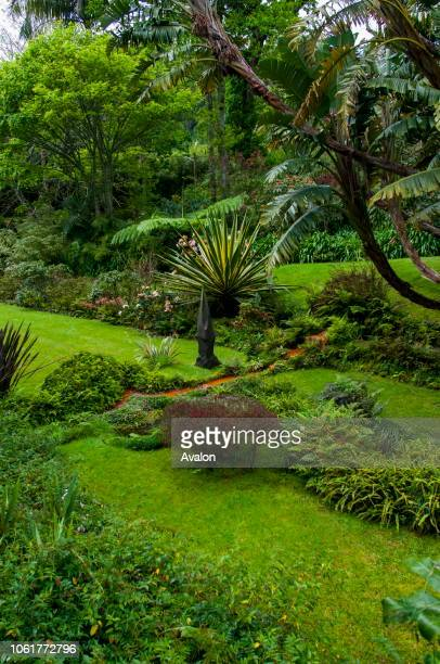The Terra Nostra Botanical Gardens in Furnas on Sao Miguel Island in the Azores Portugal