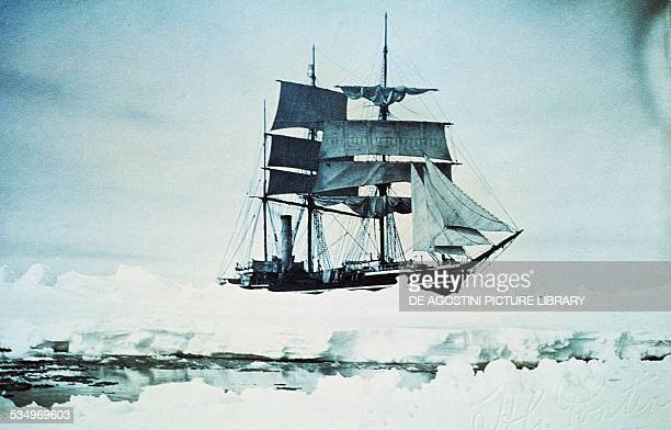 The Terra Nova exploration ship in the ice in the Antarctic expedition of Captain Robert Falcon Scott 19101913 20th century