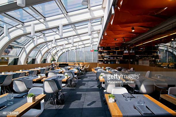 The terrace of the Maio Restaurant at the seventh floor of La Rinascente departement store Milan Italy 2013
