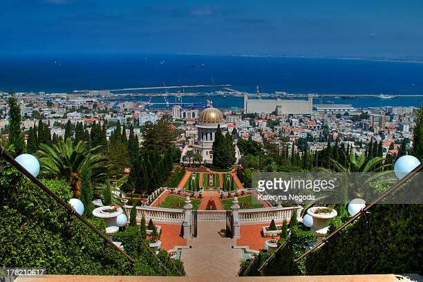CONTENT] The Terraces of the Bahá'í Faith also known as the Hanging Gardens of Haifa are garden terraces around the Shrine of the Báb on Mount Carmel...