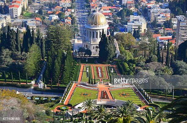 CONTENT] The Terraces of the Bahá'í Faith or the Hanging Gardens of Haifa are garden terraces at the Shrine of the Báb on Mount Carmel in Haifa Israel