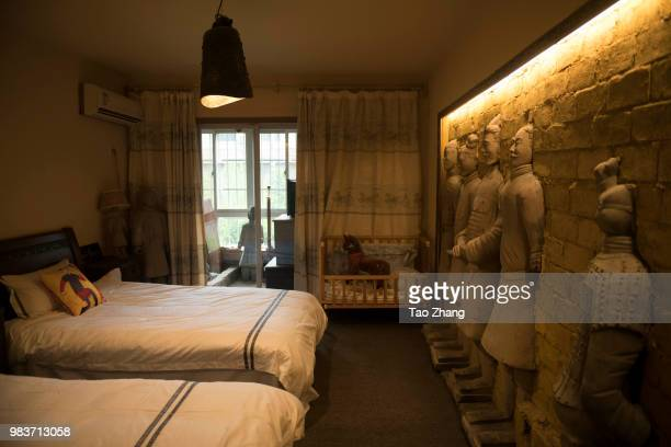 Guo zhihua of Designer at Terracotta Warriors Apartment on June 25 2018 in Xi An ChinaThe apartment was built in 2008 and contains 55 large...