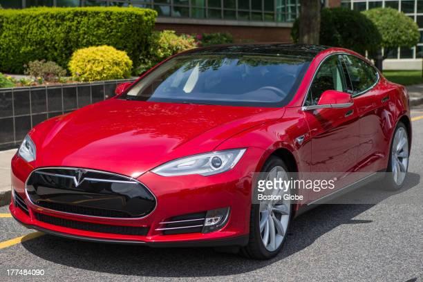 The Tesla Model S in the Globe parking lot