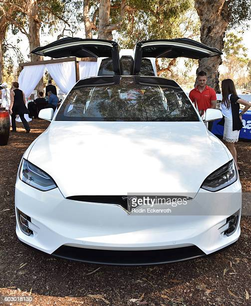 The Tesla Model X at the Safety Harbor Kids 9th Annual Charity Fundraiseron September 10 2016 in Los Angeles California
