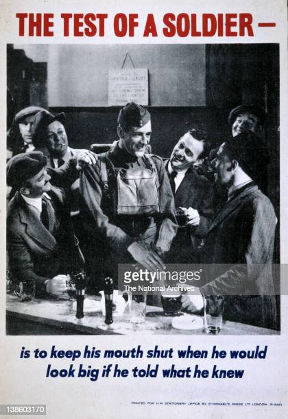 The Test of a Soldier Careless Talk Costs Lives campaign WWII poster