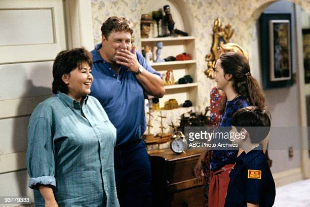 ROSEANNE 'The Test' Season Three 9/18/90 Dan Darlene and DJ were on pins and needles when Roseanne thought that she was pregnant again