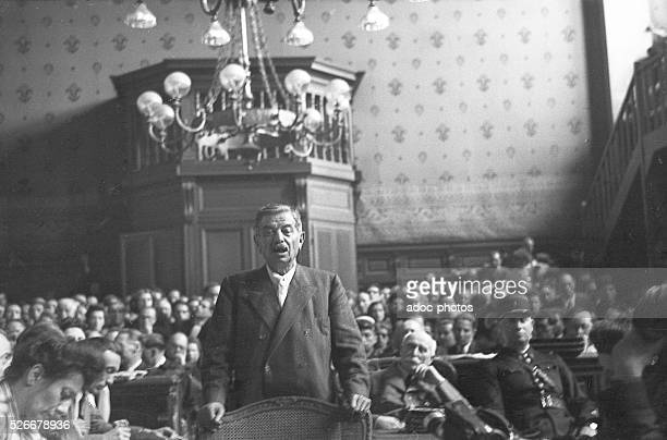 The testimony of Pierre Laval during the trial of Marshal Philippe P��tain at Paris In August 1945