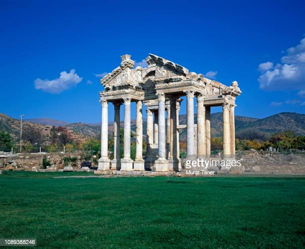 the tetrapylon of aphrodisias in caria - ancient history stock pictures, royalty-free photos & images