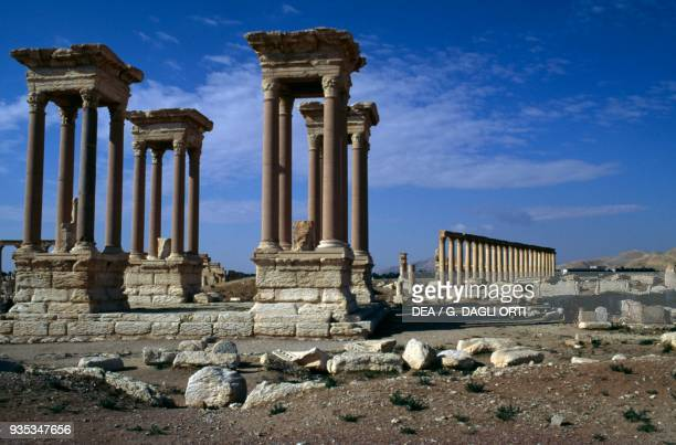 The tetrapylon of Palmyra near Tadmur Syria Roman Civilization 2nd Century
