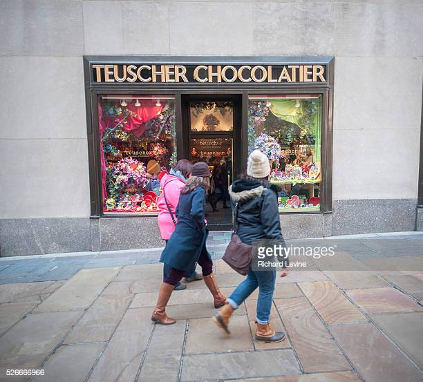 The Teuscher Chocolatier shop in Rockefeller Center in New York is seen decorated for Valentine's Day on Fridy, February 5, 2016. The Swiss company...