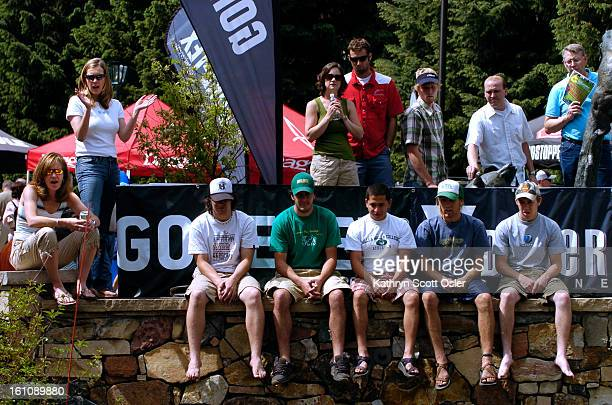The Teva Mountain Games in Vail, CO. Crowds gather to watch the Kayak Pro Rodeo Semi-final.